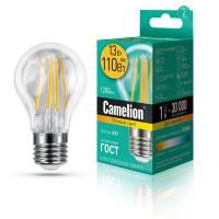 Лампа светодиодная филаментная Camelion 220В 13Вт (110Вт) Е27 3000К теплый белый арт 13716