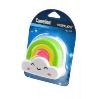 Детский светодиодный ночник в розетку с выключателем Camelion NL-177 РАДУГА 220В 0.5Вт арт.12533