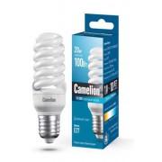Лампа энергосберегающая люминесцентная Camelion 220В 20Вт (100Вт) Е27 6400К холодный белый арт.10609