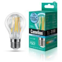 Лампа светодиодная филаментная Camelion 220В 13Вт (110Вт) Е27 4500К нейтральный белый арт.13717