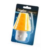 Детский светодиодный ночник в розетку с выключателем Camelion NL-192 ЖЕЛТЫЙ 220В 0.5Вт арт.12908