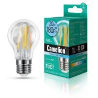 Лампа светодиодная филаментная Camelion 220В 20Вт (180Вт) Е27 4500К нейтральный белый арт.13719