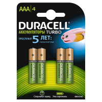 Аккумуляторы Ni-Mh Duracell Turbo AAA 900мАч 1,2В 4шт