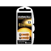 Батарейки для слуховых аппаратов Duracell Hearing AID 13 PR48 1,45В 6шт (пластиковый контейнер)
