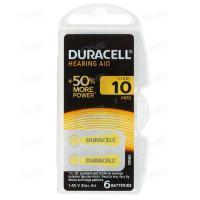 Батарейки для слуховых аппаратов Duracell Hearing AID 10 PR70 1,45В 6шт (пластиковый контейнер)