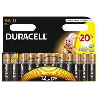 Батарейки алкалиновые Duracell Basic AA LR6 MN1500 европодвес 12шт