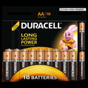 Батарейки алкалиновые Duracell Basic AA LR6 MN1500 18шт