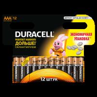 Батарейки алкалиновые Duracell Basic AAA LR03 MN2400 12шт