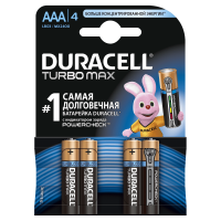 Батарейки алкалиновые Duracell Ultra Power with Powercheck (бывш Turbo Max) AAA LR03 MX2400 4шт