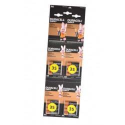 Батарейки алкалиновые Duracell SIMPLY AA LR6 MN1500 1.5В 16шт (4 отрывных блистера по 4 шт)