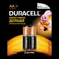 Батарейки алкалиновые Duracell Basic AA LR6 MN1500 2шт