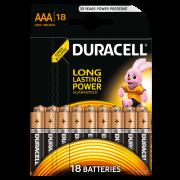 Батарейки алкалиновые Duracell Basic AAA LR03 MN2400 18 шт