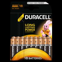 Батарейки Duracell Basic ААА 18шт