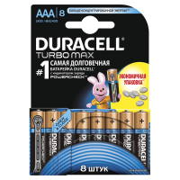 Батарейки алкалиновые Duracell Ultra Power with Powercheck (бывш Turbo Max) AAA LR03 MX2400 8шт