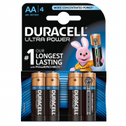 Батарейки алкалиновые Duracell Ultra Power (turbo max) AA LR6 1,5В 4шт