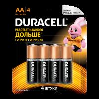 Батарейки алкалиновые Duracell Basic AA LR6 MN1500 4шт