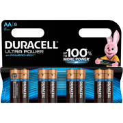 Батарейки алкалиновые Duracell Ultra Power (turbo max) AA LR6 1,5В 8шт
