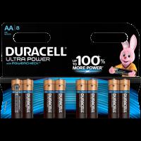 Батарейки алкалиновые Duracell Ultra Power (turbo max) AA LR6 1,5В 8шт