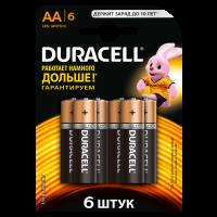 Батарейки алкалиновые Duracell Basic AA LR6 MN1500 6шт