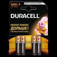Батарейки алкалиновые Duracell Basic AAA LR03 MN2400 4шт
