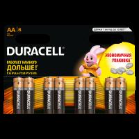 Батарейки алкалиновые Duracell Basic AA LR6 MN1500 8шт