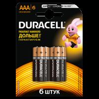 Батарейки алкалиновые Duracell Basic AAA LR03 MN2400 6шт