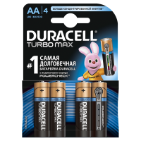 Батарейки алкалиновые Duracell Ultra Power with Powercheck (бывш Turbo Max) AA LR6 MX1500 4шт