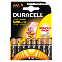 Батарейки алкалиновые Duracell Basic AAA LR03 MN2400 8шт