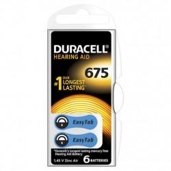 Батарейки для слуховых аппаратов Duracell Hearing AID 675 PR44 1,45В 6шт (пластиковый контейнер)