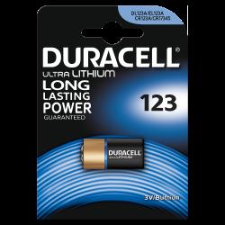 Батарейка литиевая Duracell CR123A CR123/CR17345 3В специальная 1шт