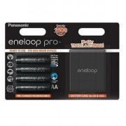 Аккумуляторы Panasonic Eneloop Pro AA 2500мАч BK-3HCDEC4BE 4шт + бокс для аккумуляторов