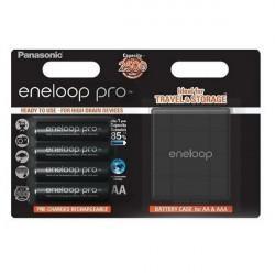 Аккумуляторы Panasonic Eneloop Pro AA 2500мАч 4шт + бокс для аккумуляторов