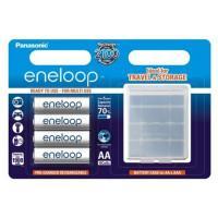 Аккумуляторы Panasonic Eneloop AA 1900мАч BK-3MCCEC4BE 4шт + Бокс для аккумуляторов
