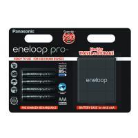 Аккумуляторы Panasonic Eneloop Pro AAA 930мАч 4шт + бокс для аккумуляторов