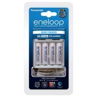 Зарядное устройство Panasonic Eneloop Basic Charger USB K-KJ61MCC40USB + 4шт Eneloop AA 1900мАч