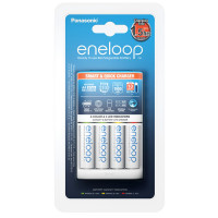Зарядное устройство Panasonic Eneloop Smart & Quick Charger K-KJ55MCC40E + 4шт Eneloop BK-3MCCE-4BE AA 1900мАч