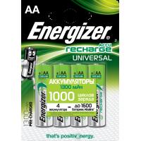 Аккумуляторы Ni-Mh металлогидридные Energizer Recharge Universal AA HR6 1300 мАч 1,2В 4шт