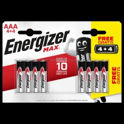 Батарейки алкалиновые Energizer MAX AA LR6 1.5В 8шт