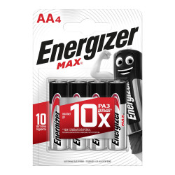 Батарейки алкалиновые Energizer Max Power Seal AA LR6 1,5В 4шт