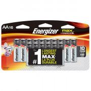 Щелочные батарейки Energizer Max AA 16шт