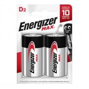 Батарейки алкалиновые Energizer MAX D LR20 1.5В 2шт