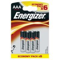 Щелочные батарейки Energizer Max AAA 6шт