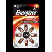 Батарейки для слуховых аппаратов Energizer Zinc Air 312 8шт