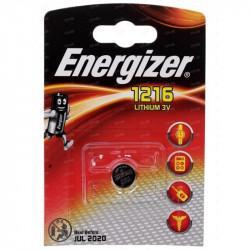 Батарейка литиевая Energizer CR1216 дисковая 3В 1шт