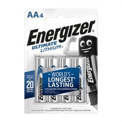 Батарейки литиевые Energizer Ultimate Lithium L91 AA FR6 1.5В 3600мАч 4шт
