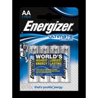 Батарейки литиевые Energizer Ultimate Lithium L91 AA FR6 4шт
