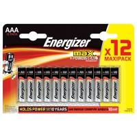 Щелочные батарейки Energizer Max AAA 12шт