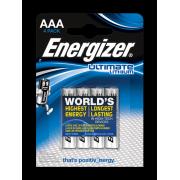 Батарейки литиевые Energizer Ultimate Lithium L92 AAA FR03 1,5В 4шт