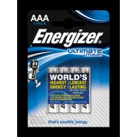 Литиевые батарейки Energizer Ultimate Lithium AAA 4шт
