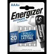 Батарейки литиевые Energizer Ultimate Lithium AAA FR03 1.5В new 4шт